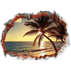 Wandtattoo 3D Strand mehrfarbig