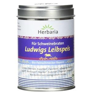 """Herbaria """"Ludwigs Leibspeis"""" Gewürzmischung für Schweinebraten, 1er Pack (1 x 95 g Dose) - Bio"""