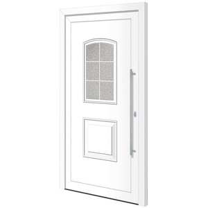 RORO Türen & Fenster Haustür Otto 10, BxH: 100x200 cm, weiß, ohne Griff