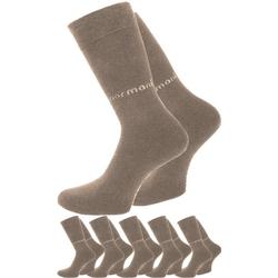 normani Basicsocken 6 Paar Herrensocken mit normani-Logo (6 Paar) handgekettelte Fußspitze beige 43-46