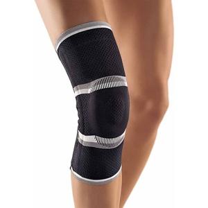 Bort StabiloGen® Eco Kniegelenk Bandage Knie Gelenk Stütze Silikonpelotte, schwarz, M