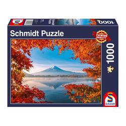 Schmidt Spiele Puzzle Herbstzauber am Fuji, 1000 Puzzleteile