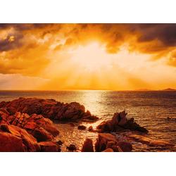 Papermoon Fototapete Capriccioli Beach Sunset Sardinia, glatt 4 m x 2,6 m