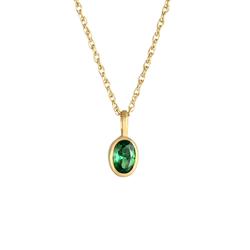 Elli Elli Halskette Zirkonia Schmuckstein Smaragdgrün 925 Silber