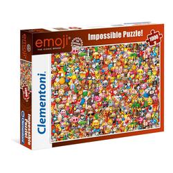 Clementoni® Puzzle Emoji 1000 Teile Impossible Puzzle, Puzzleteile bunt