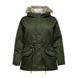 ONLY Kurzer Curvy Parka Damen Grau Female L-50/52