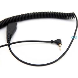 AxTel Spiralkabel 0,5-2 m. - QD / 2,5 mm Klinke Kabel AXC-25