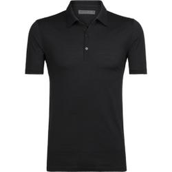 Icebreaker - Mens Tech Lite SS Polo Black     - Poloshirts - Größe: M