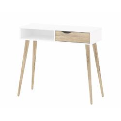 ebuy24 Schreibtisch Napoli Schreibtisch mit 1 Schublade und 1 Ablage w