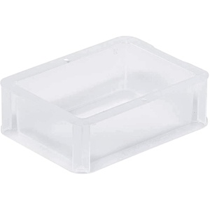aidB Eurobox BASICLINE transluzent, 200 x 150 x 70 mm, Griffe geschlossen, transluzente Plastikbox aus durchsichtigem Kunststoff, durchsichtige Box, ideal für die Industrie, 1 St.