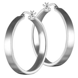 Vinani Paar Creolen, Vinani Klapp-Creolen mattiert Sterling Silber 925 Ohrringe CBAM