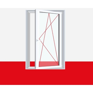 Kunststofffenster Badfenster Ornament Milchglas Nussbaum, Anschlag: DIN Links, BxH: 500x400 (50x40 cm), Glas: 2-Fach