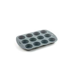 Funktion Muffinform mit 12 Löchern Silikon Grau