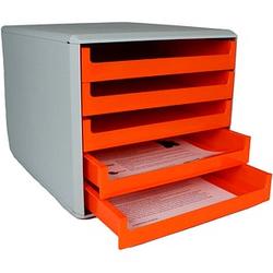 M&M Schubladenbox   orange DIN A4 mit 5 Schubladen