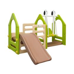LittleTom Rutsche Kinder Spielplatz ab 1 Jahr Garten Spielturm Baby, 155x135 Rutsche mit Schaukel
