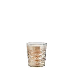Madam Stoltz Teelichtglas Ø 8 cm Grau