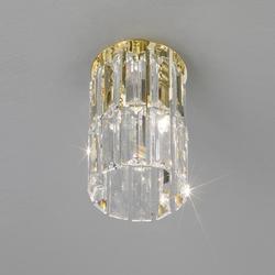 Spectrakristall-Deckenleuchte Prisma von Kolarz® Ø12cm 24Karat vergoldet Prisma Stretta gold/klar, 24 Karat  vergoldet 344.11M.3