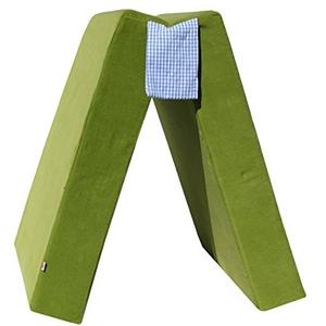 Spielpolster für Kinder, Klapppolster, Klappmatratze, Spielmatratze, Gästematratze Kord (grün)