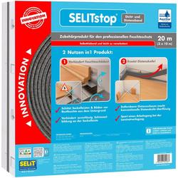 SELIT Dichtband SELITstop, mit integriertem Distanzband silberfarben 1 x 10 m
