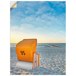 Artland Wandbild Ostsee7 - Strandkorb, Strand (1 Stück) 30 cm x 40 cm