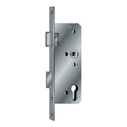 BKS Glastür-Einsteckschloss PZW 20/35/72/8mm DINlinks silber ktg.
