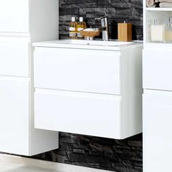 Hochglanz Waschtisch in Weiß modern