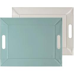 freeform Tablett, 45 x 35 cm grau Tischaccessoires Geschirr, Porzellan Haushaltswaren Tablett