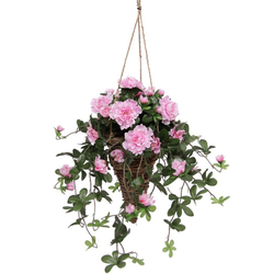 Kunstpflanze Azalee in Hängeampel Azaleen, I.GE.A., Höhe 53 cm