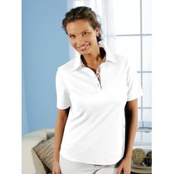 Avena Damen Aloe vera-Polo-Shirt Weiß 46
