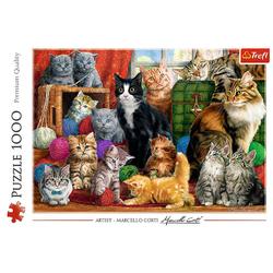 Trefl - Puzzle - Katzen 1000 Teile