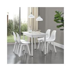 Set de 4 Chaises Design Chaise de Cuisine Chaise de Salle à Manger Plastique Blanc 83 x 54 x 48 cm