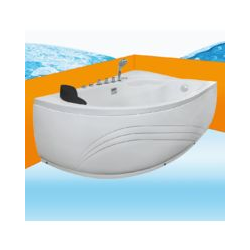 Eckwanne Whirlpool Raumsparwunder Pool Badewanne A617-B-ALL 160x100 -16633- ohne Radio und