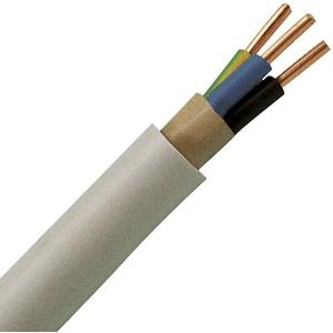 Waskönig-Walter, 5 Elektro Mantelleitung NYM-J 3x2,5mm2 50m Ring (deutsche Markenware) VDE, Mantelfarbe Grau (RAL7035)