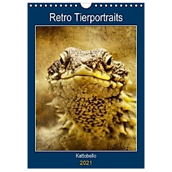 Retro Tierportrait (Wandkalender 2021 DIN A4 hoch)