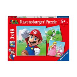 Ravensburger Puzzle Puzzle 3 x 49 Teile Super Mario, Puzzleteile