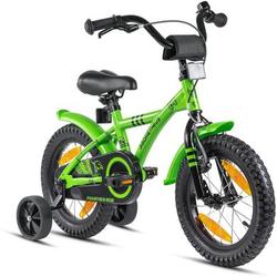 PROMETHEUS BICYCLES® HAWK Kinderfahrrad 14 , Grün-Schwarz