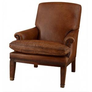 Chesterfield Luxus Echt Leder Sessel / Stuhl Ireland Vintage Leder Tobacco Braun von Casa Padrino - Club Sessel