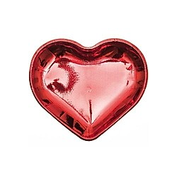 Pappteller Herz  Rot  Fsc Mix