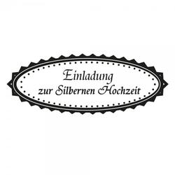 Hochzeit - Einladung zur Silbernen Hochzeit (60x30 mm)