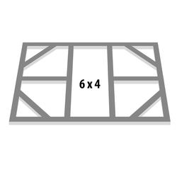 "Globel Industries Fundamentbodenrahmen für Gerätehaus ""Skillion 64"",aluminium blank,113 x 171 cm"