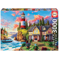 Educa Puzzle LIGHTHOUSE NEAR THE OCEAN, 3000 Puzzleteile