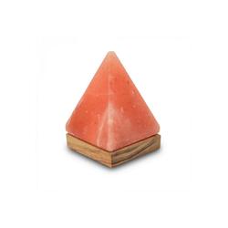 mitienda Tischleuchte Tischleuchte aus Salzkristall LED Pyramide