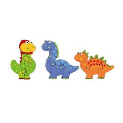 Nici Konturenpuzzle Mini Puzzle Set Dinosaurier, 9 Puzzleteile