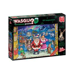 Jumbo Spiele Puzzle 25003 Wasgij Christmas 17 - Elf Inspection!, 1000 Puzzleteile