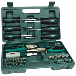Brüder Mannesmann Werkzeuge Werkzeugset, (45-St), befüllter Werkzeugkoffer