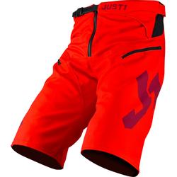 Just1 J-Flex Fahrradshorts, rot, Größe 32