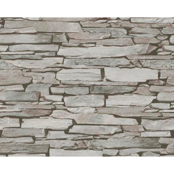 LIVINGWALLS Satintapete Authentic Walls Naturstein Optik schwarz