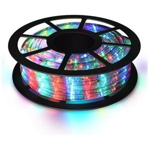 COSTWAY LED-Lichterschlauch Lichterschlauch mit LEDs bunt 30 m