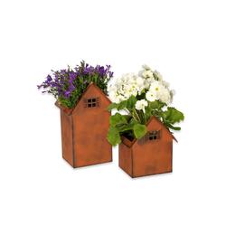 Hoberg Blumenkasten Hoberg Rost-Pflanztöpfe 2er-Set 20cm & 28cm (2 Stück)