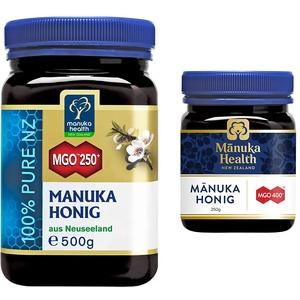 Manuka Health - Manuka Honig MGO 250+ (500 g) - 100% Pur aus Neuseeland mit zertifiziertem Methylglyoxal Gehalt & - Manuka Honig MGO 400+ 250 g - 100% Pur aus Neuseeland